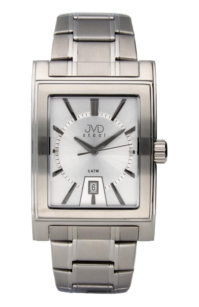 Pánské ocelové hranaté hodinky JVDW 01.1