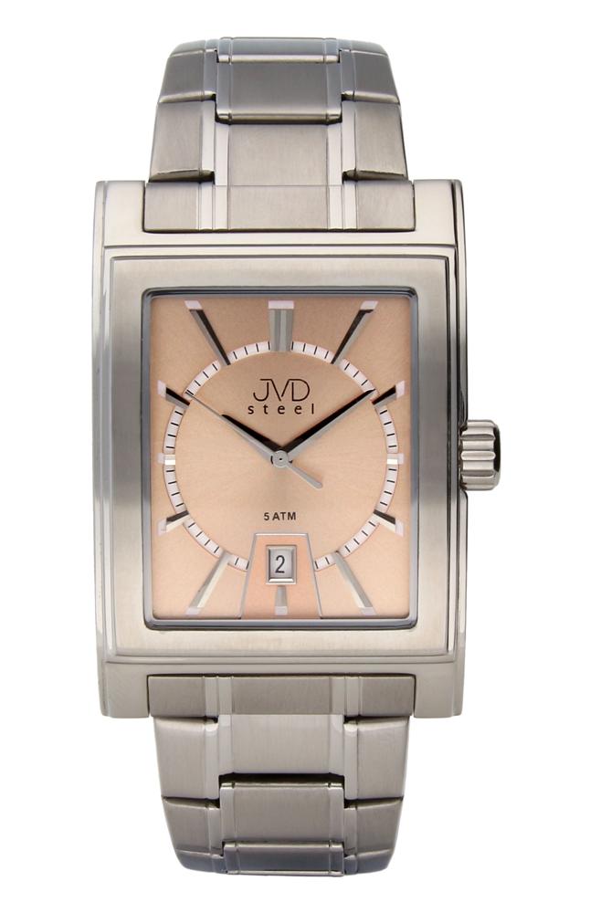 Pánské ocelové hranaté hodinky JVDW 01.2