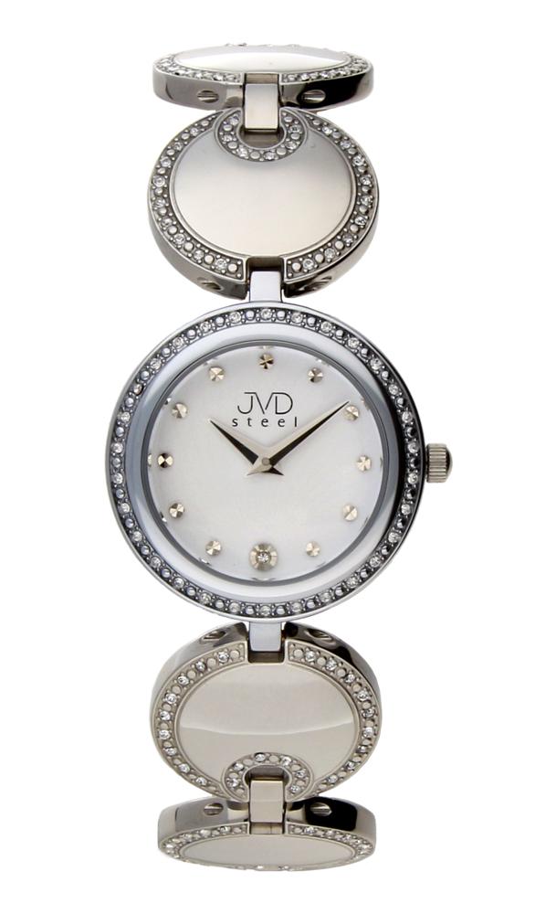 Dámské šperkové ocelové stříbrné hodinky JVD W19.1 - POŠTOVNÉ ZDARMA!! (POŠTOVNÉ ZDARMA!!!)
