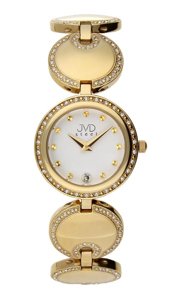 Dámské šperkové ocelové zlaté hodinky JVD W19.2 - elegance sama :-)