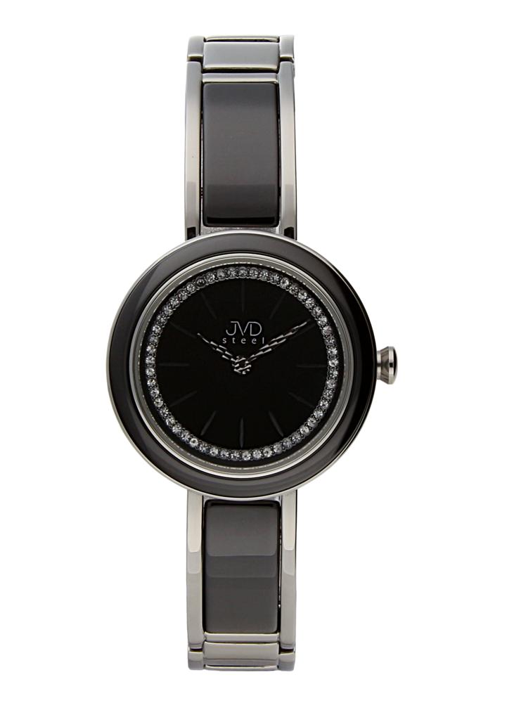 Šperkové černé luxusní dámské hodinky JVDW 32.1 POŠTOVNÉ ZDARMA!!