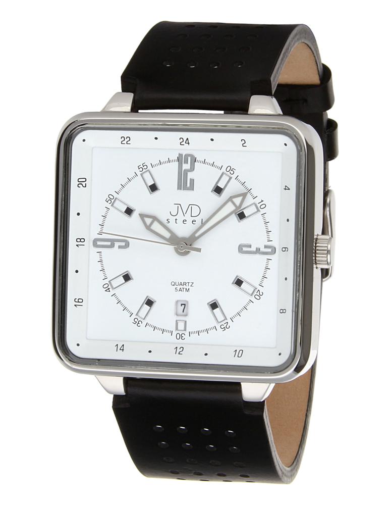 Ocelové voděodolné unisex hranaté hodinky JVDX 98 5db4db2f37