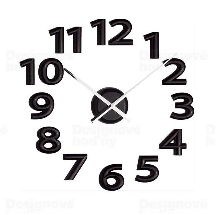 Luxusní designové černé nalepovací hodiny 22822 Balvi 60cm POŠTOVNÉ ZDARMA!! (POŠTOVNÉ ZDARMA!!)