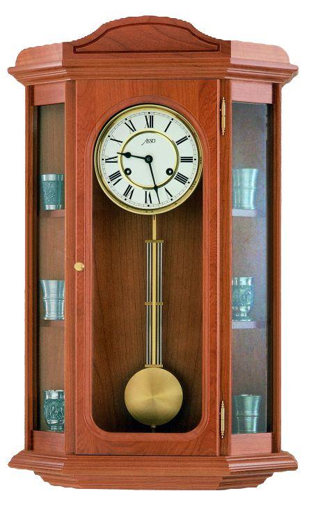 Luxusní kyvadlové dřevěné nástěnné hodiny ASSO A19/235/2 POŠTOVNÉ ZDARMA!! (POŠTOVNÉ ZDARMA!!)
