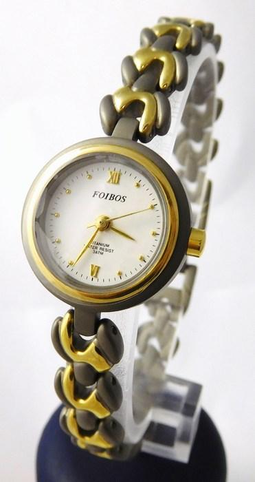 Dámské titanové antialergické kvalitní hodinky Foibos 5595 - 3ATM
