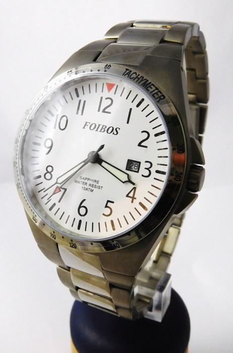 Luxusní pánské titanové antialergické čitelné hodinky Foibos 2358.2 - 10ATM POŠTOVNÉ ZDARMA!!