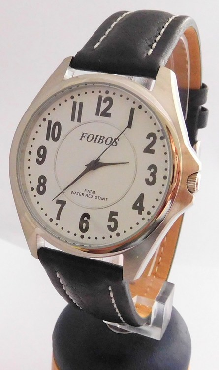Čitelné ocelové pánské značkové voděodolné hodinky Foibos 3883.6 - 5ATM