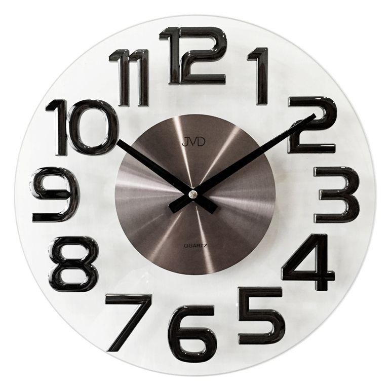 Luxusní kovové nástěnné designové hodiny JVD HT098.2