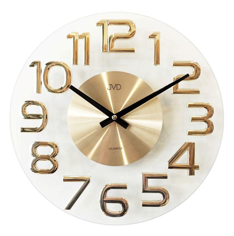 Luxusní kovové nástěnné designové hodiny JVD HT098.1 (POŠTOVNÉ ZDARMA!!)