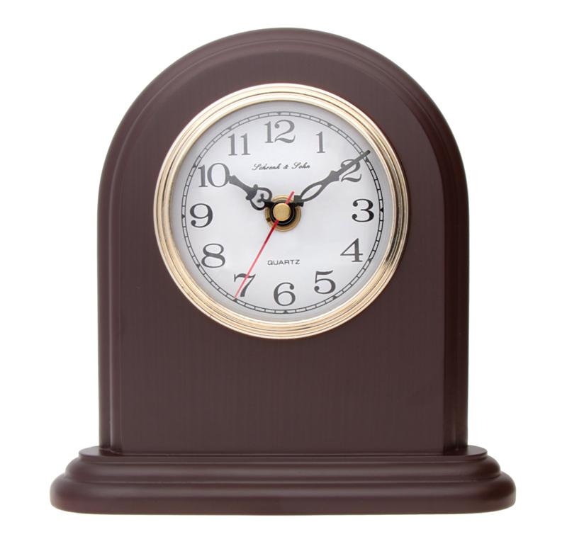Luxusní hnědé stolní hodiny ASSO A15/102/3 (imitace dřeva)