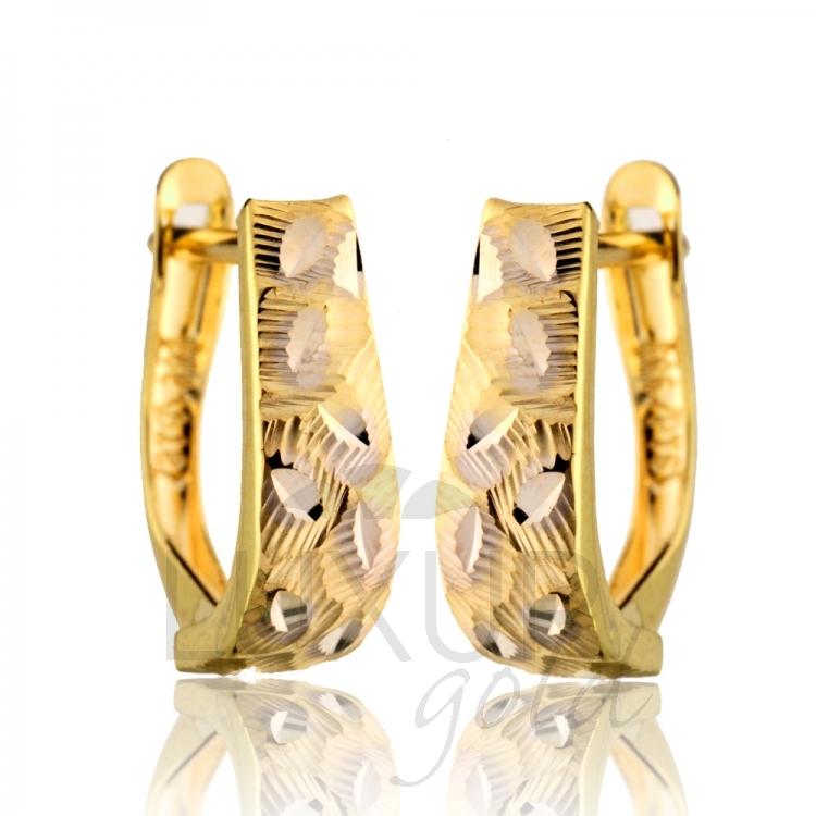 Gravírované zlaté dámské náušnice ze žlutého zlata 585/1,45gr 1131524 (1131524)
