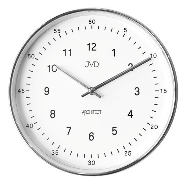 Kovové nástěnné hodiny JVD -Architect- HT080.1 (dva ciferníky)