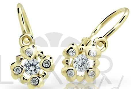 Dětské zlaté náušnice ze žlutého zlata 585/0,87gr 4030054 POŠTOVNÉ ZDARMA!!