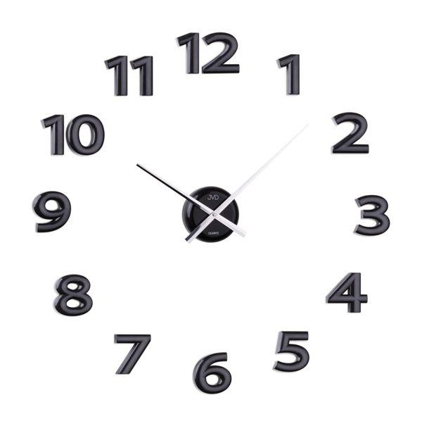 Černé nalepovací hodiny JVD HB12.1 POŠTOVNÉ ZDARMA!! (POŠTOVNÉ ZDARMA!!)