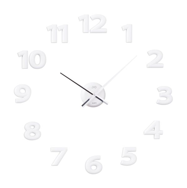 Bílé nalepovací hodiny JVD HB12.2 POŠTOVNÉ ZDARMA!! (POŠTOVNÉ ZDARMA!!)