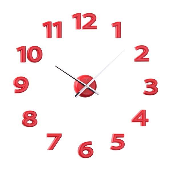 Červené nalepovací hodiny JVD HB12.3 POŠTOVNÉ ZDARMA!! (POŠTOVNÉ ZDARMA!!)