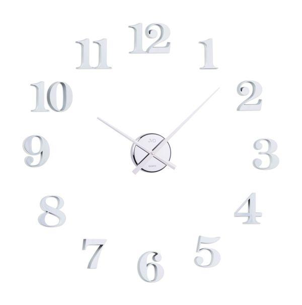 Bílo-stříbrné nalepovací samolepicí hodiny JVD HB13.1 POŠTOVNÉ ZDARMA!! (POŠTOVNÉ ZDARMA!!)