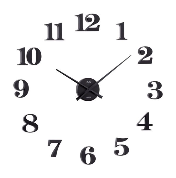 Černé nalepovací samolepicí hodiny JVD HB13.2 POŠTOVNÉ ZDARMA!! (POŠTOVNÉ ZDARMA!!)