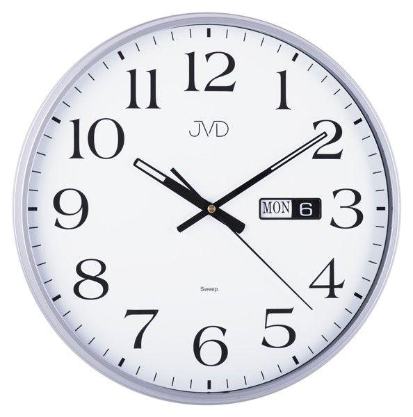Netikající hodiny JVD sweep HP671.4 (Netikající tiché nástěnné s datumovkou)