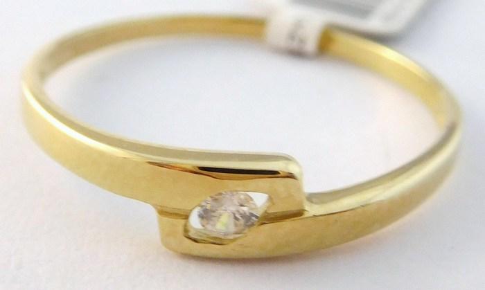 Dámský zlatý prsten (zásnubní) se zirkonem 585/1,2gr vel. 60 4010043 POŠTOVNÉ ZDARMA!!