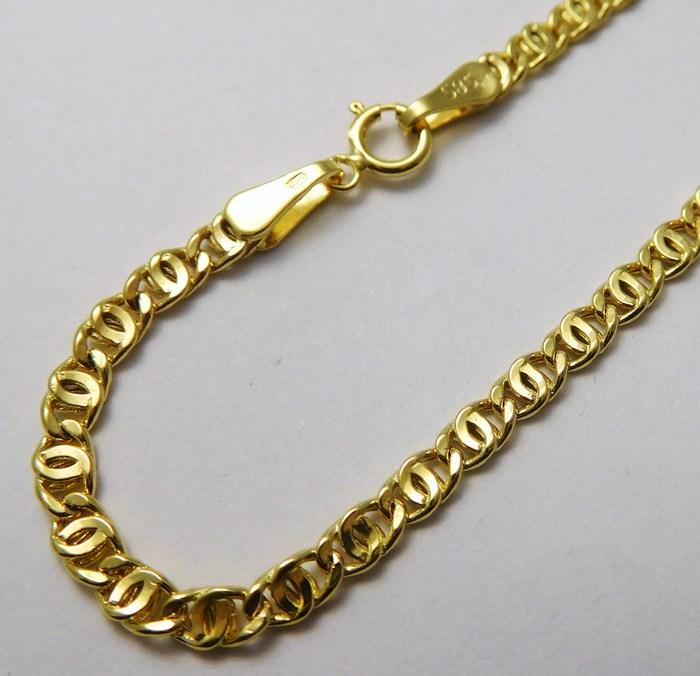 Dámský/pánský mohutný zlatý řetěz (řetízek) 50cm 585/2,50gr H835 (POŠTOVNÉ ZDARMA!!!!)