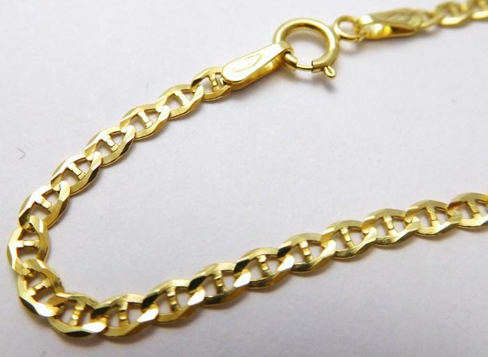 Dámský mohutný zlatý řetěz (řetízek) 45cm 585/3,20gr H730