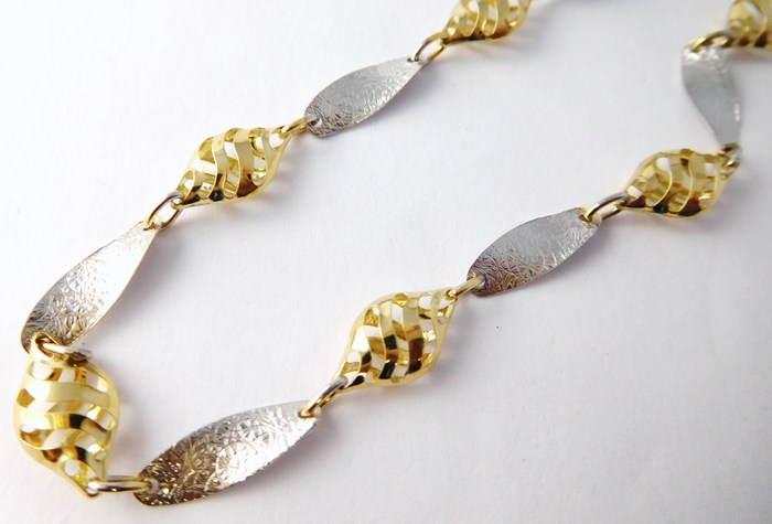 Mohutný ozdobrný zlatý řetěz 45cm 585/7,12gr 1440623 POŠTOVNÉ ZDARMA