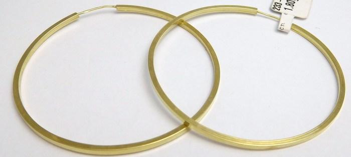 d86c24076 Mohutné velké zlaté kruhy (hranaté) cca 4cm 585/1,72gr H837