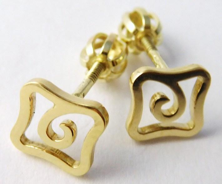 Zlaté pecičky - zlaté náušnice na šroubek 585/1,55gr 6830529 - POŠTOVNÉ ZDARMA (6830529)