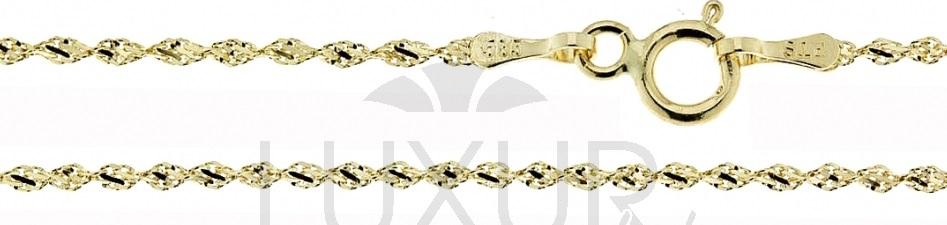 Zlatý dětský řetízek - TWIST 585/1,02gr 38cm 3640007 POŠTOVNÉ ZDARMA (3640007)
