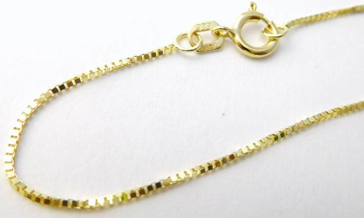 Zlatý řetízek - benátský přívěskový řetízek 585/1,65 gr 50cm 3640139