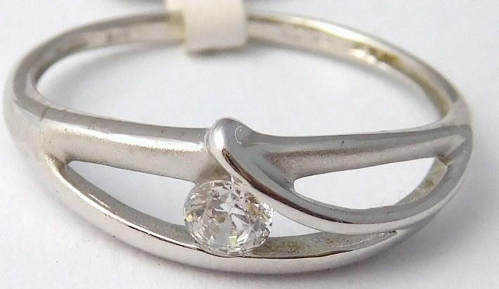 Zlatý prsten z bílého zlata se zirkonem 585/1,72gr vel. 54 2061397 (2061397 - POŠTOVNÉ ZDARMA)