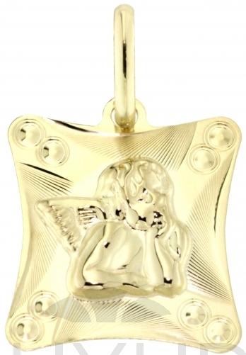 Zlatý gravírovaný přívěsek - zlatý andělíček/anděl 585/0,82gr 1322302 (1322302)