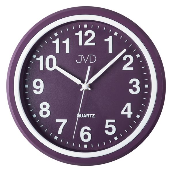 Nástěnné hodiny JVD HA47.2 (fialové hodiny)