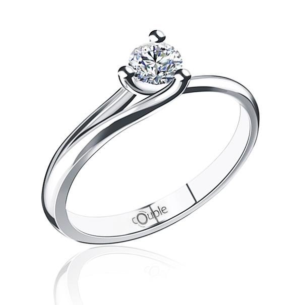 Zásnubní diamantový luxusní prsten ASINARA 6869075 585/1,32gr (6869075)