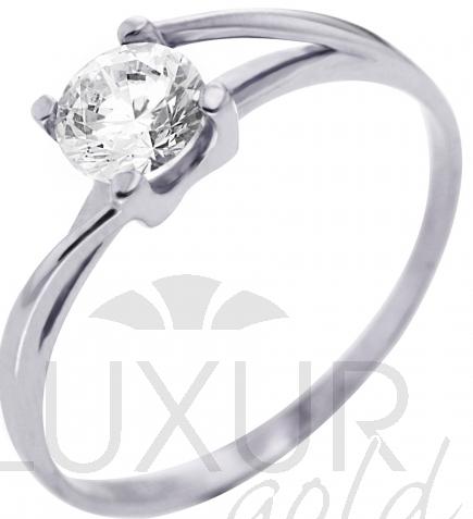 Zásnubní zlatý prsten z bílého zlata se zirkonem 585/1,32gr vel. 53 4565042 (4565042 - POŠTOVNÉ ZDARMA)