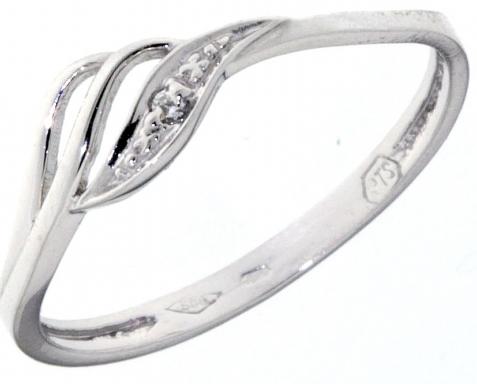 c659e8974 Zlatý prsten z bílého zlata se zirkony 585/1,10gr vel. 53 1860299