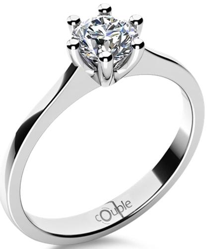 Menorka - zásnubní prsten s diamantem COUPLE - 585/1,80gr 6869090 (6869090 - POŠTOVNÉ ZDARMA)