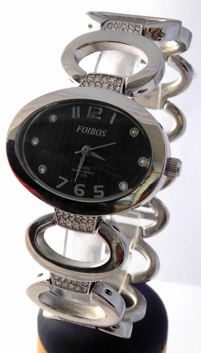 1d9d57a4e8c Dámské šperkové stříbrné hodinky s kamínky na pásku Foibos 2422 (POŠTOVNÉ  ZDARMA!