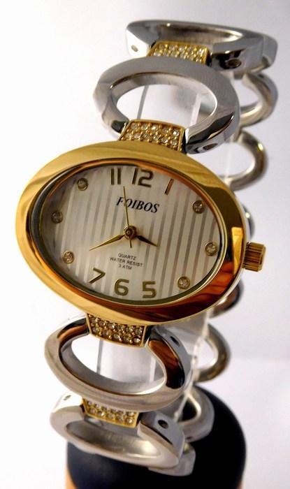 Dámské šperkové stříbrné hodinky s kamínky na pásku Foibos 24221 BICOLOR  (POŠTOVNÉ ZDARMA! dd1806b7b54