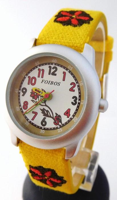 Dětské dívčí žluté hodinky Foibos 1055.2 pro malé děvčata ( )