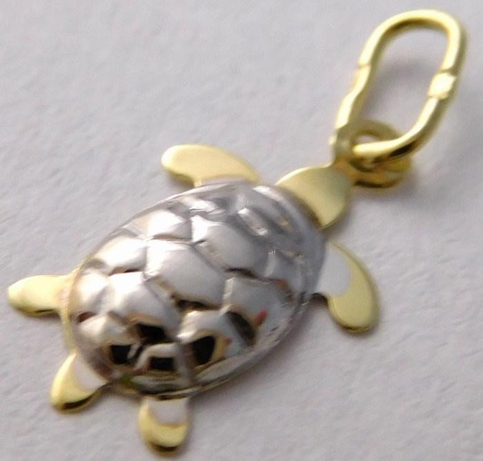 Gravírovaný zlatý přívěsek - želvička pro štěstí 585/0,30gr 241040737 (Zlatokov 241040737)