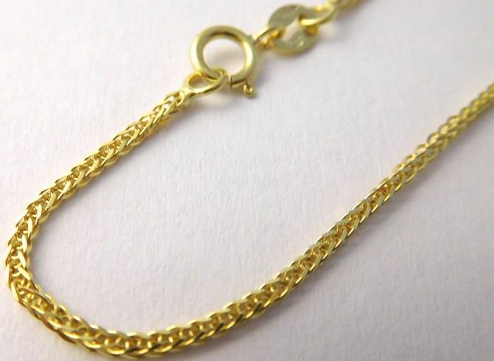 Prodloužený pevný pánský zlatý řetízek šíře 1,5mm 585/2,78gr 55cm H735