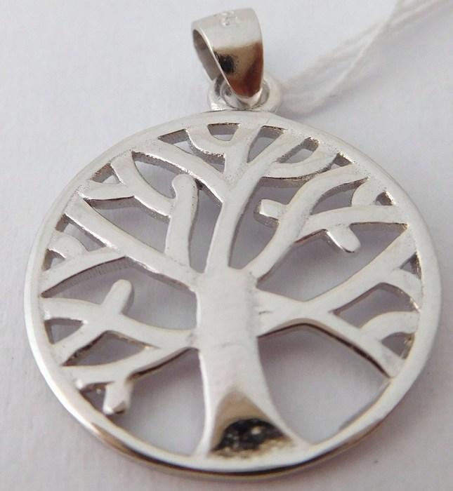Krásný stříbrný přívěšek - strom života F015