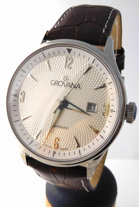 Pánské luxusní švýcarské hodinky Grovana 1191.1532 - safírové sklo 5ATM  (POŠTOVNÉ ZDARMA!!) b3879b564a