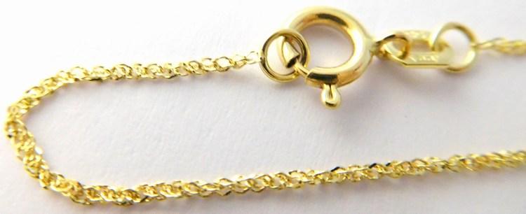 Dámský levný zlatý řetízek - vzorovaný 585/0,97gr 50cm 3640000 POŠTOVNÉ ZDARMA!!