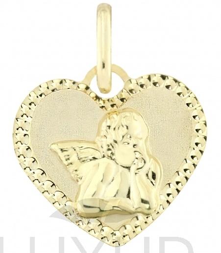 Zlatý andělíček - zlatý anděl s srdíčku s gravírováním 585/0,72gr 1322291 (1322291)