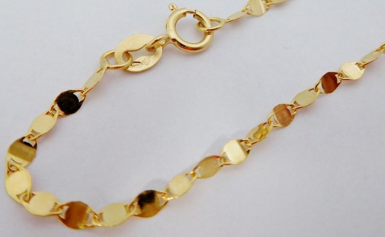 Luxusní zlatý řetízek ze žlutého zlata 50cm/1,50gr H243