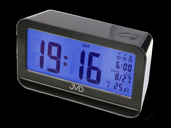 Digitální budík JVD SB130.2 (se senzorem podsvícení - černý)