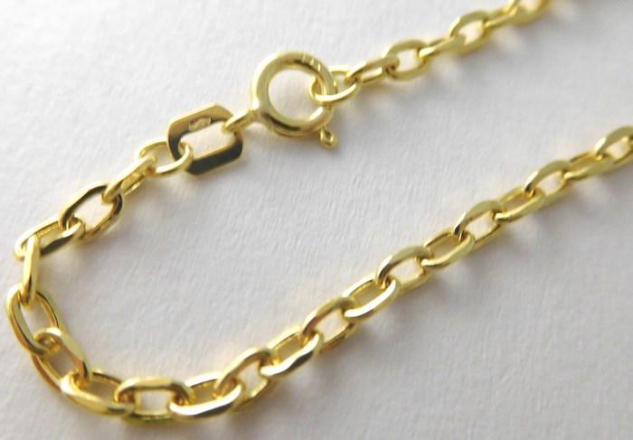 Mohutný pánský prodloužený zlatý řetěz - řetízek 55cm 585/2,52gr 3640161